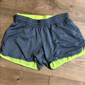 Neon reversible running shorts
